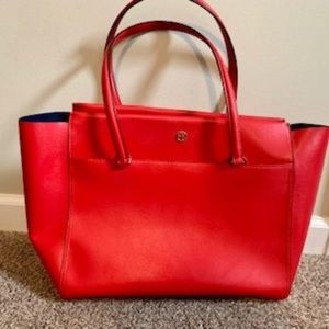 Used Tory Burch Red Robinson Tote